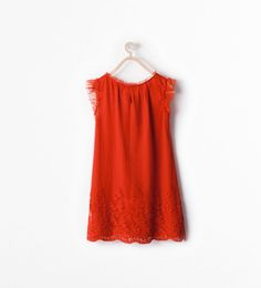 EMBROIDERED TULLE DRESS-Dresses and overalls-Girl (3-14 years)-KIDS | ZARA United States