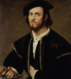 Portrait of a Young Man with Gloves, by Bernardino Licinio (1489-1565)