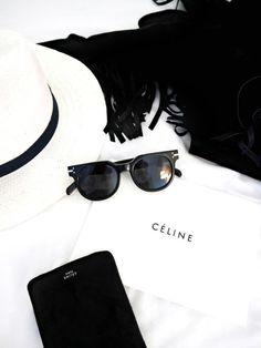 black & white basics: hat, sunglasses & more #celine #style #fashion