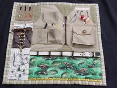 Fidgety Fisherman  Busy Fingers Tactile Quilt by EndearingDignite