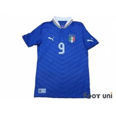Photo1: Italy Euro 2012 Home Shirt #9 Balotelli - Football Shirts,Soccer Jerseys,Vintage Classic Retro - Online Store From Footuni Japan