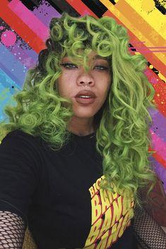 The Ultimate Hair Color Inspo Hair Inspo, Hair Inspiration, Curly Hair Styles, Natural Hair Styles, Brazilian Hair Bundles, Dye My Hair, Dyed Curly Hair, Big Chop, Green Hair