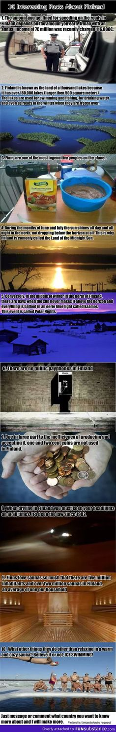 10 interesting things about Finland (although the cop in the first frame most definitely is not a finnish cop)