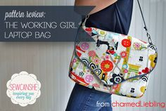Pattern Review: The Working Girl Laptop Bag from charmedLiebling