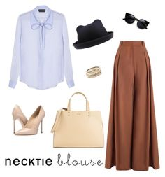 """Fall trend: Necktie Blouse"" by irina-samsonov on Polyvore featuring Rochas, Zimmermann, Massimo Matteo, Calvin Klein and Kendra Scott"