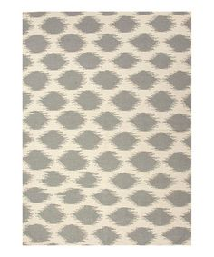 Cream & Gray Abstract Dot Flat Wool Rug by Jaipur Rugs