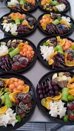 Charolas de frutas