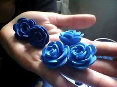 ROSAS PEQUEÑAS DE FOAMY O GOMA EVA.- SMALL FOAM ROSES. - YouTube