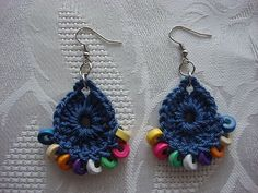 Handmade Blue Earrings With Wooden Beads  by karmasaccessories, $11.90 #gift #apparel