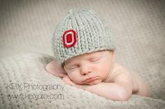 (6) Name: 'Knitting : Ohio State Football hat for him
