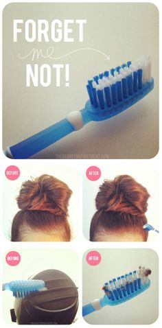 Beauty Hacks for Teens - Useful Way of Toothbrush - DIY Makeup Tips and Hacks for Skin, Hairstyles, Acne, Bras and Everything in Between - Pictures and Video Tutorials for Girls of All Shapes and Sizes Whether You're Fit or Want to Lose Weight - Get in Shape for Summer with These Awesome Ideas - thegoddess.com/beauty-hacks-teens