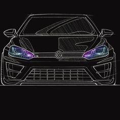 Golf 7 Gti, Golf R Mk7, Volkswagen Golf 7, Golf Drawing, Car Logo Design, Sketches, Drawings, Amazon, Amazons