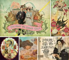 Gorgeous collage art by Eduardo Recife, I love his work.