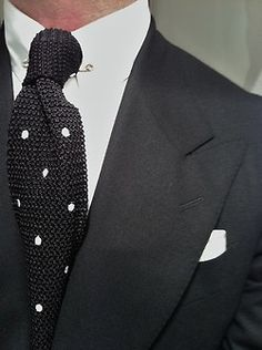 Love the collar with a tie pin.