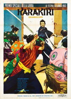 Italian, Czech, and German posters for Masahiro Kobayashi's HARAKIRI