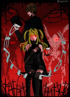 Misa and Light // Death Note Death Note, Light And Misa, Amane Misa, Nate River, Book Works, Shinigami, My Chemical Romance, Me Me Me Anime, Live Action