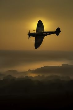 """Sunward I've climbed and joined the tumbling mirth of sun-split clouds..."" (Pilot Officer John Gillespie Magee,  Jr.)"
