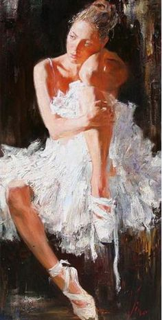 ❤ this beautiful ballerina by artist Anna Vinogradova Ballerina Painting, Ballerina Art, Ballet Art, Figure Painting, Painting & Drawing, Oil Painters, Dance Art, Art Themes, Beautiful Paintings