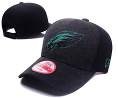 Men's / Women's Philadelphia Eagles New Era 2016 NFL Classic Team Adjustable Curved Hat - Heather Grey / Black