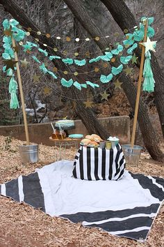 party in the woods.  So sweet and would be really neat to surprise a kid with!