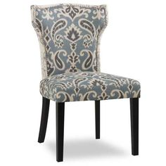 The Jessen Script Accent Chair collection offers a sophisticated look for your home.