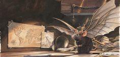 """Ilustracja z książki """"Niezwykłe przygody latającej myszy""""."""
