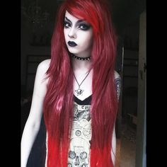 @nicolewednesdaymiller in Lush Wigs Redrum! Beautiful #lushwigs #lushwigsredrum www.lushwigs.com #wig #redwig #alternativehair Available to buy now