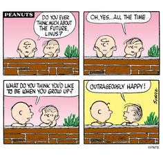 peanuts charlie brown cartoon outrageously happy - Google Search