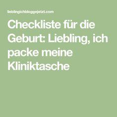 Checkliste für die Geburt: Liebling, ich packe meine Kliniktasche