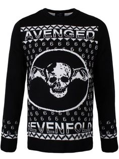 front heavy metal christmas christmas jumpers christmas holidays holiday sweater avenged sevenfold - Black Metal Christmas Sweater