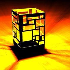 Mondrian inspired plasma cut steel walled firepit...