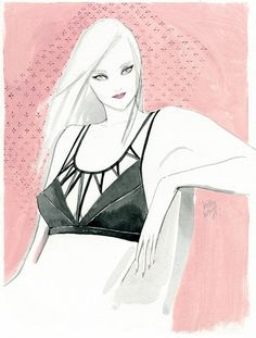 Kitty N. Wong Draws: Fashion Illustrations for Tangram x Suki Cohen Lin...