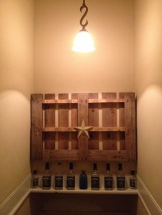 Love our new pallet shelf!