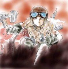 懐かしいついでに・・ 松本零士 戦場まんがシリーズ2 鉄の墓標の表紙を落書き・・
