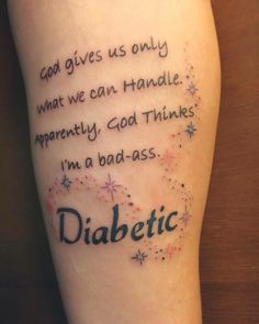 Check out Danielle's awesome tattoo! #diabetes #diabetic #diabadass…