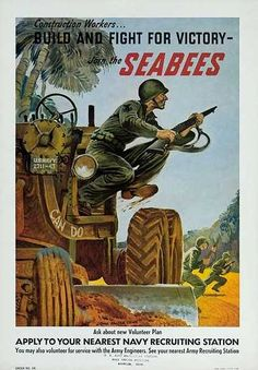 Vintage Seabee Recruiting Poster
