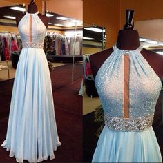 New Arrival Light Blue Sequin Long Prom Dress,Chiffon Prom Dresses http://fancytemplestore.com