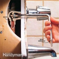This simple DIY repair saves money and water. Learn how to fix a leaky bathtub faucet. Bathroom Plumbing, Bathroom Faucets, Concrete Bathroom, Faucet Repair, Bathtub Repair, Toilet Repair, Leaky Faucet, Plumbing Tools, Cleaning