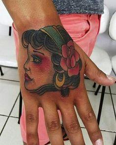 old School tattoo,  head girl.