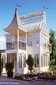 Mix things up with a conservatory-style she shed that is sure to be the envy of all your friends.