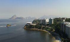 Vista do Hotel H em Niterói, Rio de Janeiro, Brasil.