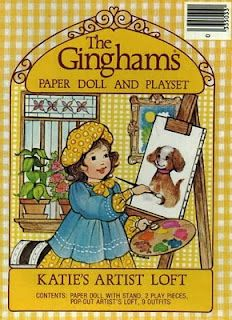 The Gingham Paper Doll Gold Cover  Katie's Artist Loft