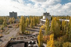 Pripyat is the city that was left behind after the Chernobyl disaster in 1986. This picture was pinned from Krzysztof Knapik's website.