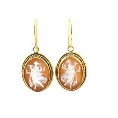 Vintage Dancing Cameo Earrings | SOLD rockofeden.com #rockofeden #accessories #findbeautyinallthings #vintage #cameo #earrings