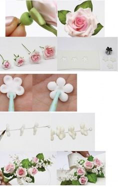 Gumpaste rose tutorial. Need to translate for English