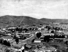 1885 with Calle Cortera, now Sunset Blvd, in the foreground. Pierce Photography Collection [updated] - Framework - Photos and Video - Visual Storytelling from the Los Angeles Times Alta California, California History, Vintage California, Southern California, San Luis Obispo County, Dodger Stadium, San Fernando Valley, City Of Angels, Old Photos