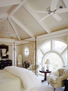 Unique wheel shaped window, round window, huge window, bedroom window, light interior style