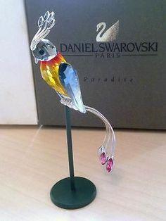 Swarovski-Daniel-Swarovski-Paris-Crystal-Figurine-BANAMBA-Fire-Opal-Bird-284064