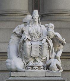 "Sculpture ""Asia"" at main entrance to Alexander Hamilton U.S. Custom House, New York, New York"
