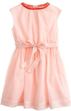 Girls' organdy dress with contrast bow